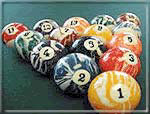 Beautiful billiard Balls