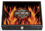 Harley-Davidson Casino Flame Poker Chip Set