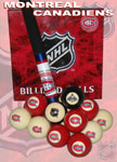 NHL Montreal Canadiens Pool Balls