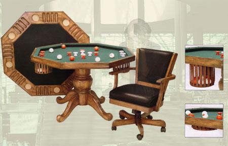 Bumper Pool Table Set mahogany finish