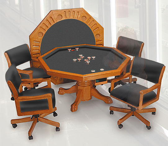 3 In 1 Bumper Pool Poker Table 4 Chair 54 Quot 3 Finishes Ebay