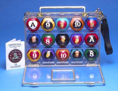 Pool Table Balls On Poker Pool Billiard Pool Table Balls W Clear Case Ebay