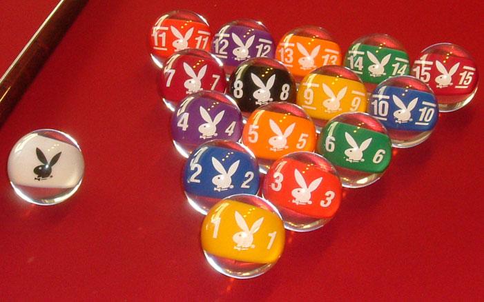playboy clear pool balls clear billiard balls ebay