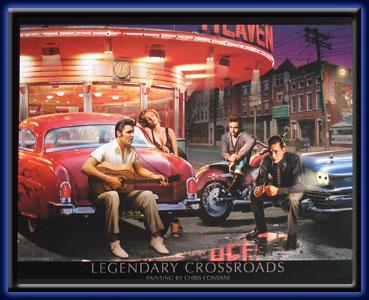 Legendary Crossroads - Neon LED picture electric art gallery accessories montreal abcbilliardplus.com