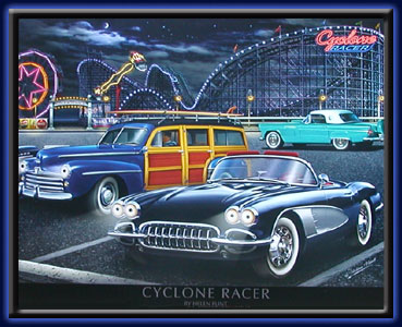 Cyclone Racer - Neon LED picture electric art gallery accessories montreal abcbilliardplus.com