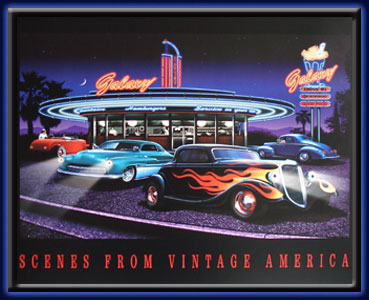 Galaxy Diner - Neon LED picture electric art gallery accessories montreal abcbilliardplus.com