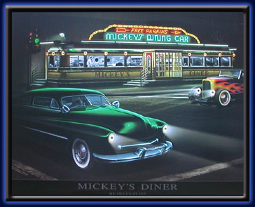 Mickey's Diner - Neon LED picture electric art gallery accessories montreal abcbilliardplus.com