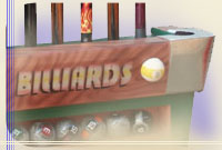 Pool cue racks, billiard cue racks, cue racks