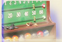 Shadowboxes, mirrors, scoreboards, clocks, benches, thermometer plates or whimsical figurines