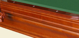 solid hardwood pool table billiard table russian oak - bold straight lines