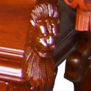 solid hardwood pool table billiard table russian oak - iniature lion heads