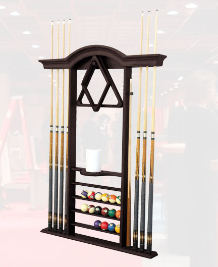 Solid Oak Solid Maple Cue Rack