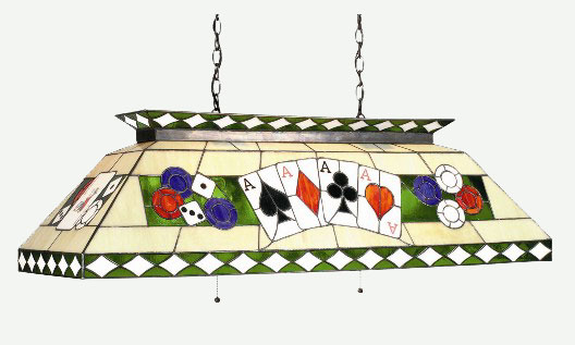 biliiard ligth poker stained glass