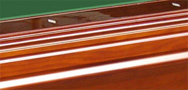 solid hardwood pool table billiard table russian oak - Top Rail Piano Finish