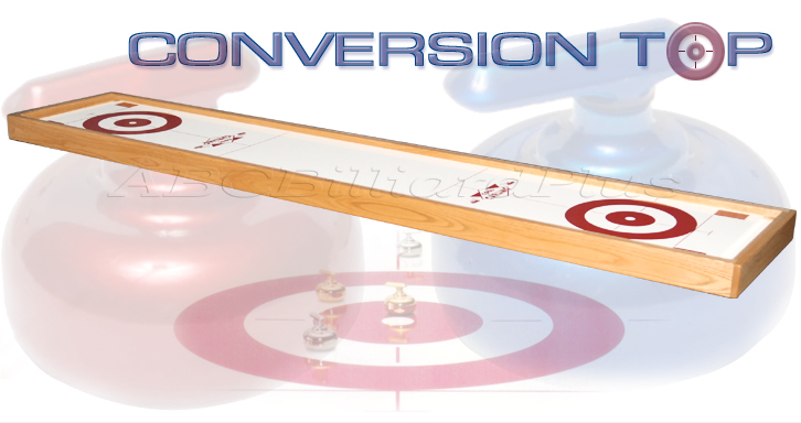 Table curling, curling tables, curling conversion top