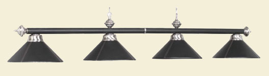 Black Leather Billiard Lights, Black Leather Billiard Light Fixture