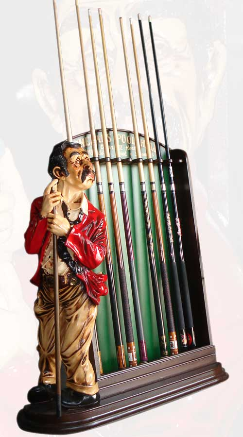 Phelan's Pool Hall Cue Rack