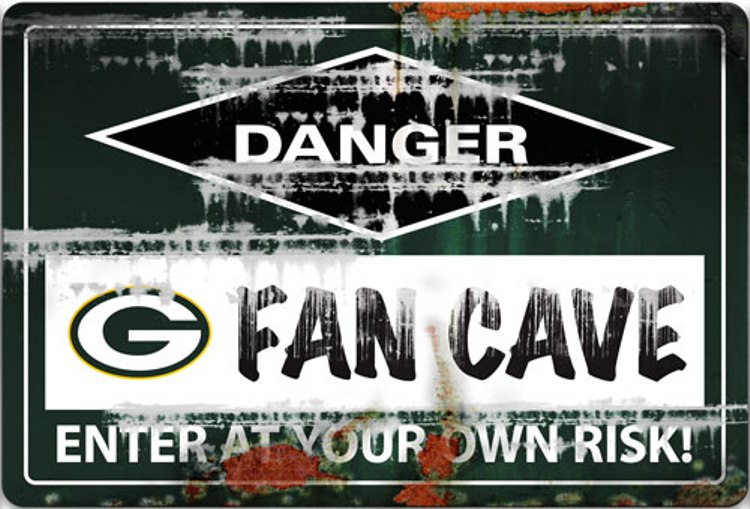 Nfl Green Bay Packers Fan Cave Sign Ebay