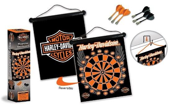 Harley Davidson Dart Board Cabinet Set