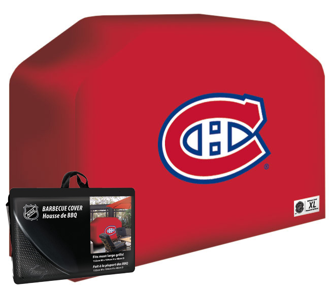Nhl montreal canadiens barbecue cover xl utensils set for Housse de barbecue